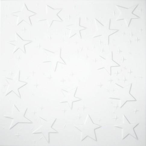 Tavan fals decorativ, polistiren extrudat, C2021, modern, alb, 50 x 50 x 0.3 cm
