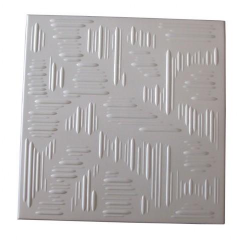 Tavan fals decorativ din polistiren C2022 modern alb 50 x 50 x 0.3 cm