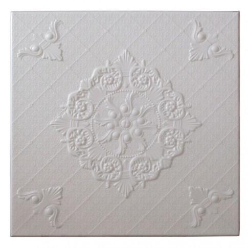 Tavan fals decorativ din polistiren C2059 clasic alb 50 x 50 x 0.3 cm