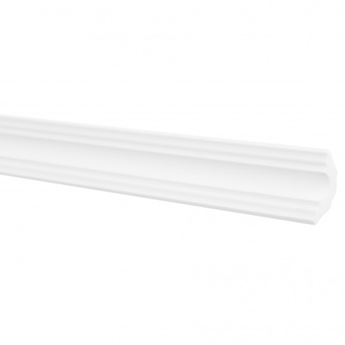 Bagheta decorativa polistiren LX40, modern, alba, 200 x 3 x 3 cm