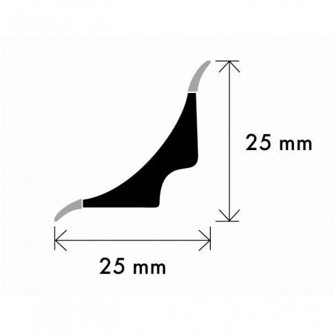Profil de scafa cu margini flexibile 2,5 metri negru
