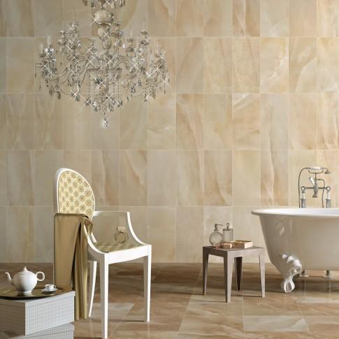 Faianta baie / bucatarie Onix bej lucioasa 29.3 x 59.3 cm