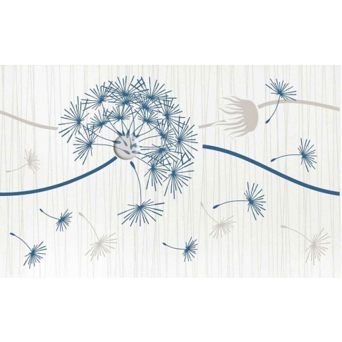 Decor faianta baie / bucatarie Larissa 2642-0338 mat albastru 25.2 x 40.2 cm