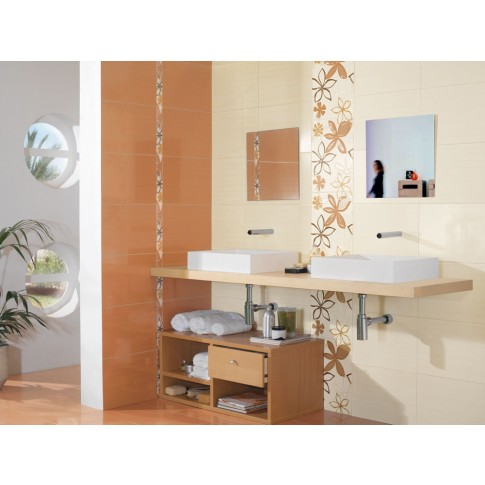 Faianta baie / bucatarie Annecy crem lucioasa 20 x 50 cm