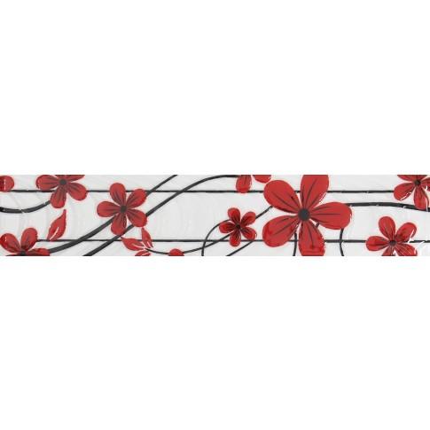 Brau faianta Ege rosu lucios 7 x 40 cm