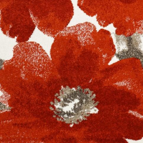 Covor living / dormitor McThree Casin 5021 8S17 polipropilena frize dreptunghiular rosu 200 x 290 cm