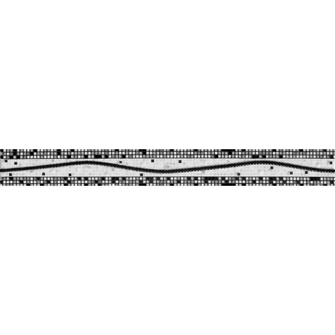 Brau faianta Inci negru lucios 4.6 x 40 cm