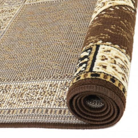Covor living / dormitor Oriental Weavers Pronto D 316/88 polipropilena BCF dreptunghiular maro 133 x 190 cm
