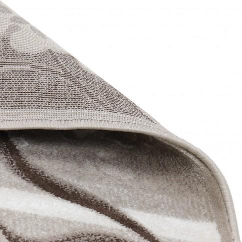 Covor living / dormitor Carpeta Delta 39721-43255 polipropilena heat-set dreptunghiular bej 80 x 150 cm