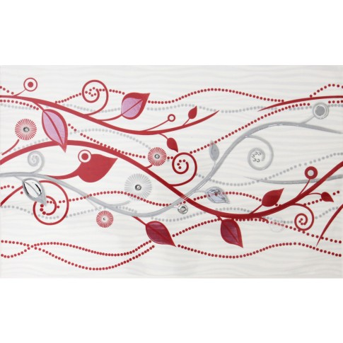 Decor faianta baie / bucatarie Wendy 17891 lucios bordo 25 x 40 cm