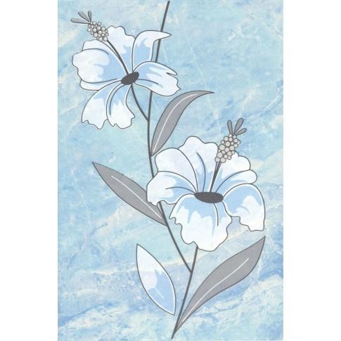 Decor faianta baie / bucatarie Pisa 2631-0177 lucios albastru 20 x 30 cm
