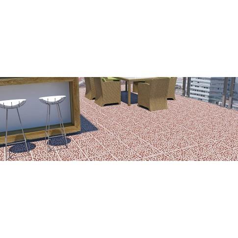 Gresie exterior / interior portelanata antiderapanta Rockstone 85261 maro, mata, imitatie piatra, 33 x 33 cm