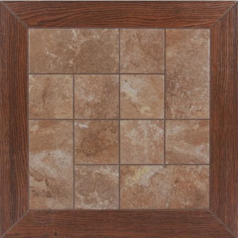 Gresie decor exterior / interior portelanata Demre maro, mata, 45 x 45 cm