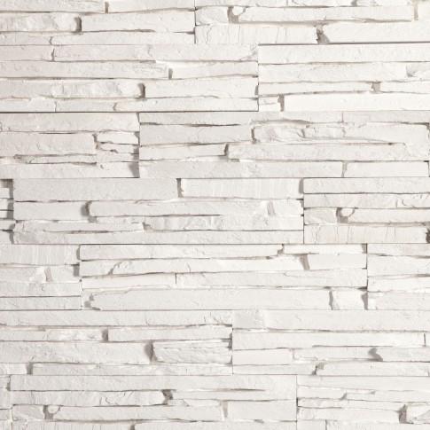 Piatra decorativa, interior, Modulo Oslo White, alb (cutie = 0.78 mp)