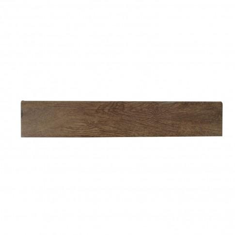 Plinta gresie portelanata Legni Aegypyus, mata, bej, 8 x 45 cm