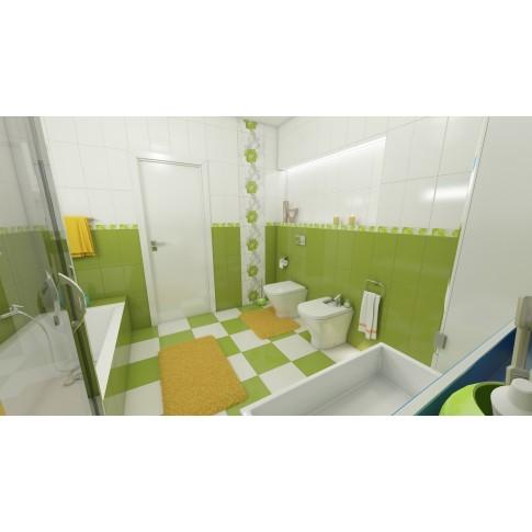Decor faianta baie / bucatarie Colors 2642-0411 lucios verde 25.2 x 40.2 cm