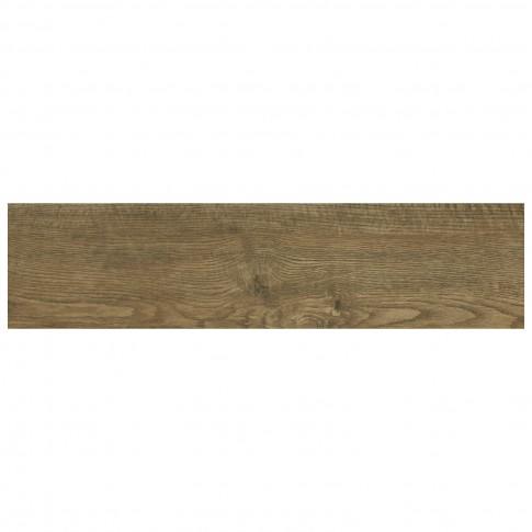 Gresie exterior / interior portelanata Horizon maro, mata, imitatie lemn, 12.5 x 50 cm