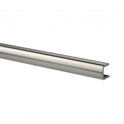 Profil aluminiu bombat, Deco Listello, S11, argintiu lucios, 10 x 3000 mm