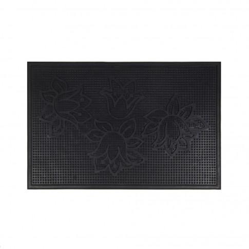 Covor intrare exterior RT Pin Mats RT-B01, cauciuc, negru, dreptunghiular, 60 x 40 cm