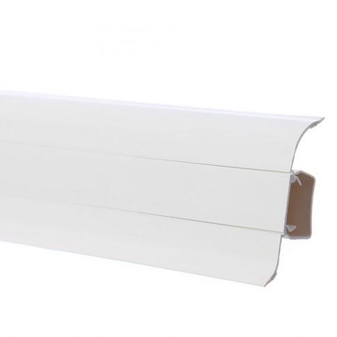 Plinta parchet PVC Smart Flex 501 canal alb 2500 x 55 x 22 mm