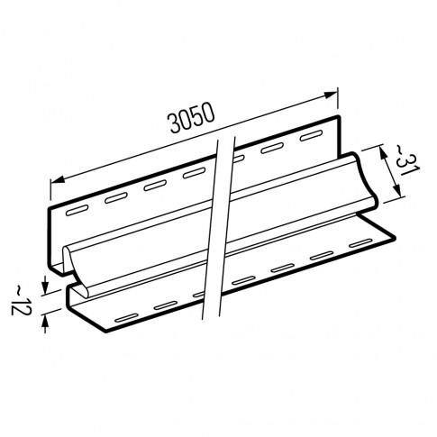 Profil colt interior Vox SV-13 pentru lambriu exterior PVC, bej, 3.05 m