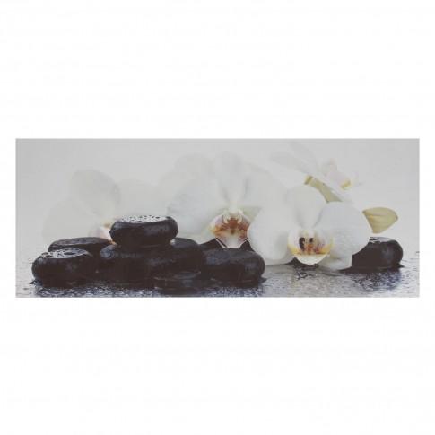 Decor faianta baie Loto lucios negru 20 x 50 cm