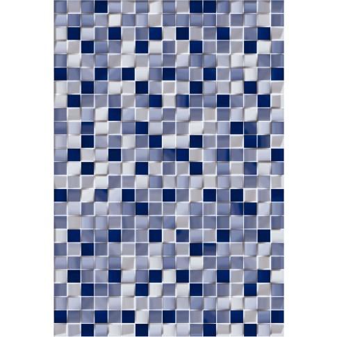 Faianta baie mozaic Cubic albastra lucioasa 25 x 36.5 cm
