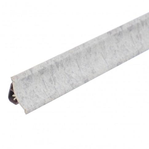 Plinta PVC pentru blat baie sau bucatarie, Korner, Neolit gri, cu margini flexibile cauciucate, 23 mm, 3 m
