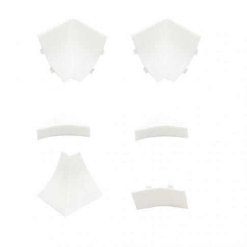 Set accesorii profil inaltator PVC PP23 alb