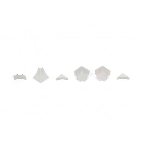 Set accesorii profil inaltator PVC PP23 gri