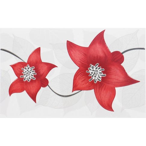 Decor faianta baie / bucatarie Colors 2642-0463 crin rosu lucios 25.2 x 40.2 cm
