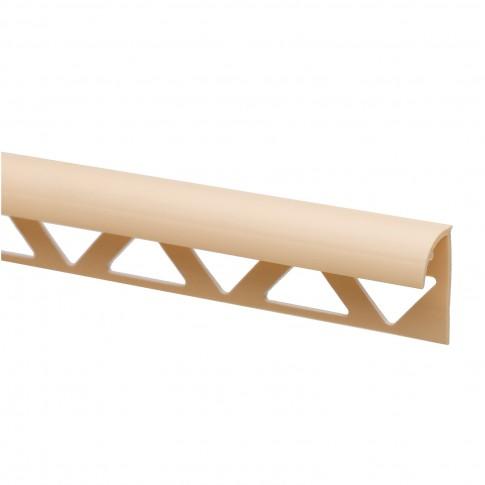 Profil PVC margine gresie si faianta, SET 31318, uni, crem, 10 mm, 2.5 m