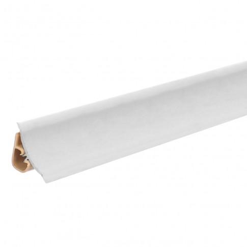 Plinta PVC pentru blat baie sau bucatarie, Korner, alb, cu margini flexibile cauciucate, 23 mm, 3 m