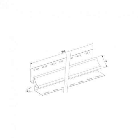 Profil colt interior PVC, pentru lambriu exterior, Vox SVP-13, stejar natur, 3.05 m