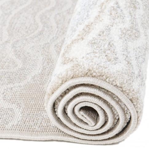 Covor living / dormitor Carpeta Matrix 18591-15055 polipropilena dreptunghiular crem 80 x 150 cm