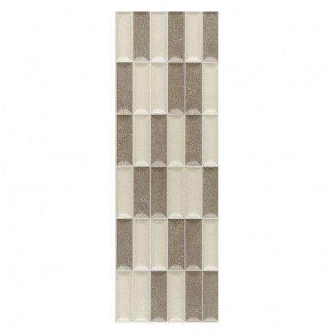 Decor faianta baie / bucatarie Stockholm Mosaico mat bej 20 x 60 cm