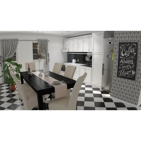 Faianta baie / bucatarie Trend, mozaic, neagra, lucioasa, 25 x 50 cm