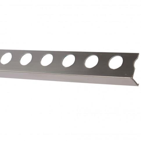 Profil decorativ aluminiu, 0al12pb, 12 mm, argintiu, 2,6 m