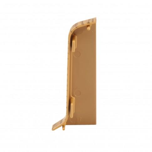 Terminatie pentru plinta, stanga / dreapta, SET 10456-6006, PVC, doussie, 52 x 22 mm, 2 buc / set