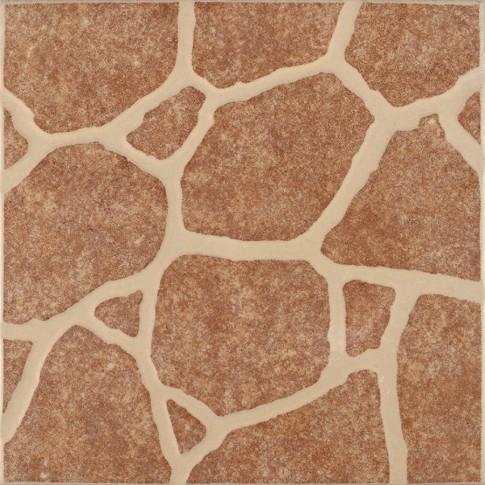 Gresie exterior / interior portelanata Riverstone 6035-0251 roscat, mata, imitatie piatra, 33 x 33 cm