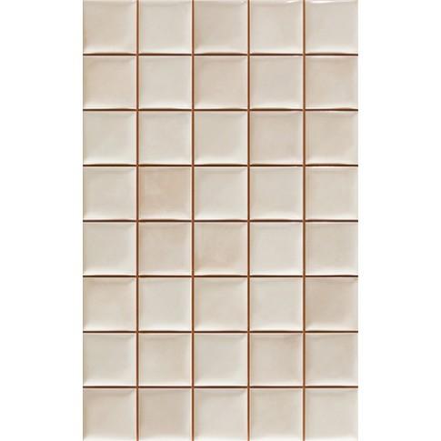 Faianta bucatarie mozaic Vernon alba lucioasa 25 x 40 cm