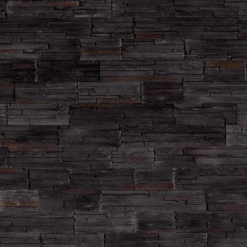Piatra decorativa, interior / exterior, Modulo Brasilia Black, negru, 0.5 mp