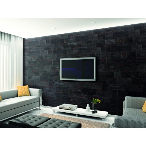 Piatra decorativa, interior / exterior, Modulo Brasilia Black, negru (cutie = 0.5 mp)