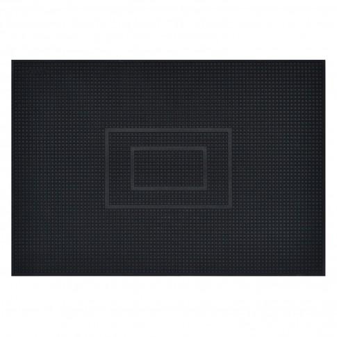 Covor intrare exterior Fagure , cauciuc, negru, dreptunghiular, 60 x 40 cm