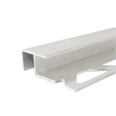 Profil aluminiu pentru scara, Profiline, argintiu, 10 x 12 mm, 2.5 m