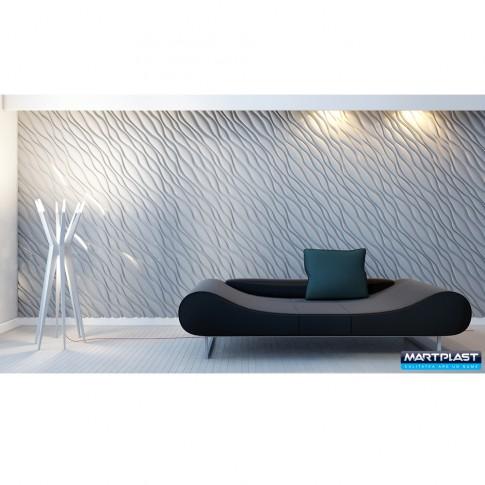Panou decorativ 3D Desert, ipsos, 60 x 60 cm