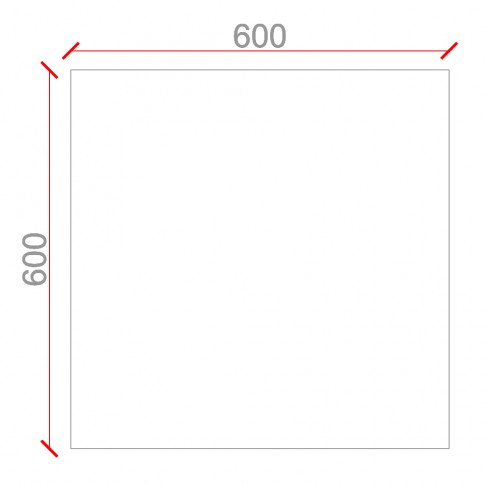 Panou decorativ 3D Emotion, ipsos, 60 x 60 cm