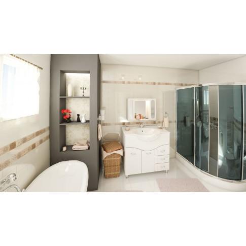 Decor faianta baie / bucatarie Arles 1 Crema (3p) lucios crem 7.5 x 30 cm