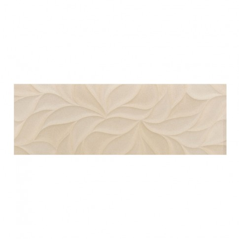Decor faianta Avenue Leaves, mat bej 30 x 90 cm