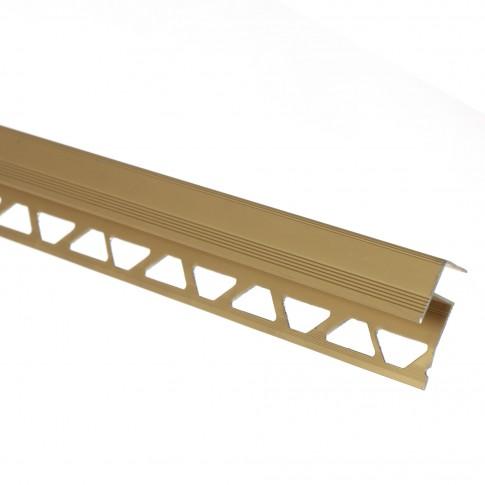 Profil aluminiu pentru treapta, auriu, 10/12 mm, 2.5 m